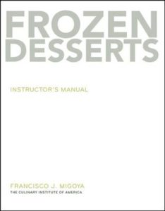 Book cover, Frozen Desserts, Francisco Migoya
