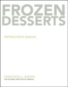 Book cover, Frozen Desserts, Francisco Migoya