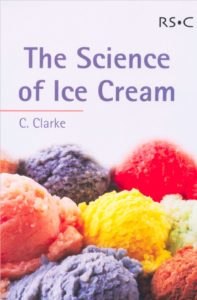 Book Cover, The Science of Ice Cream, Chris Clarke